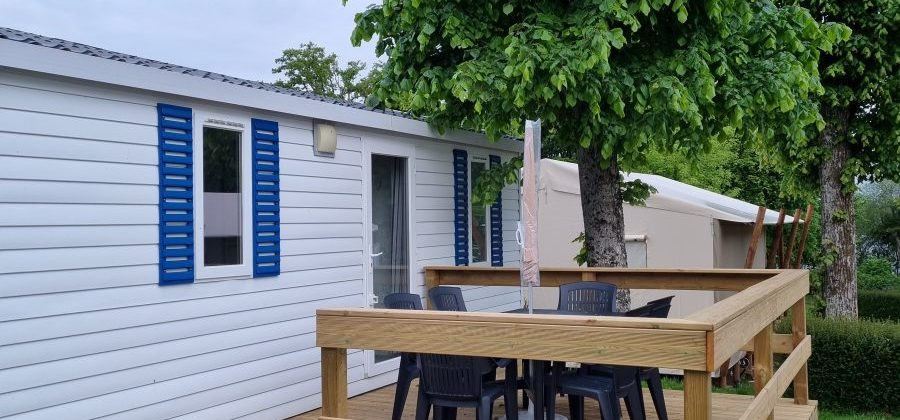 Location mobil home camping Les Rives du Lac